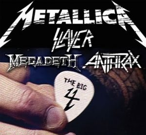 "Die ""Big Four"" Thrash Metal Bands - Metallica, Slayer, Anthrax, Megadeth"