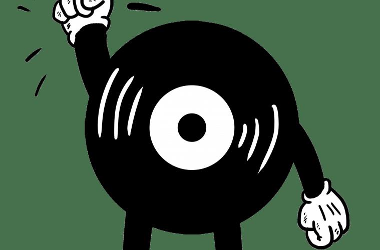 Plattenspieler, Vinyl und CD- / Schallplattencover im Heavy Metal