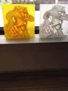 Lemmy Lithophane mit dem Ultimaker 2 3D Drucker