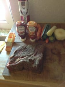 Gewürzmischung und Zutaten für Beef Brisket