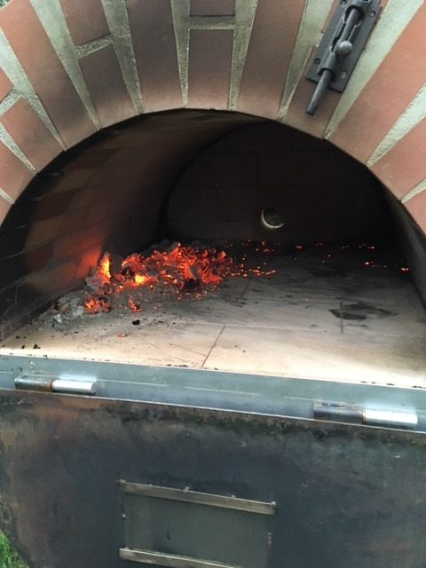Pizzaofen Innenraum