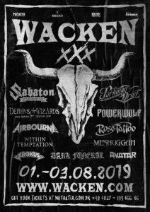 Wacken 2019 - erste Bands