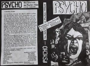 """Der Film """"Psycho- Das Geheimnis des Phantom-Killers"""" - Premiere am 01.10.1991 im """"Koralle""""-Kino Volksdorf"""