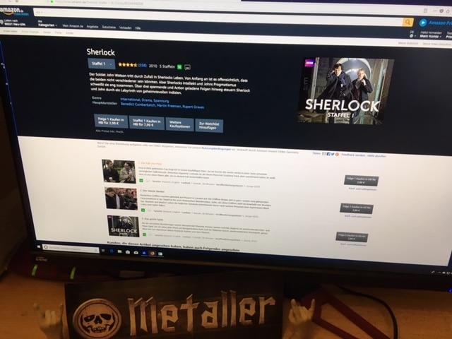 Klug gemachte Fernsehserie Sherlock mit Benedict Cumberbatch