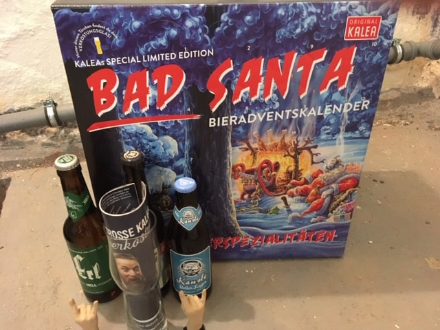 KALEA Bier Adventskalender mit 24 Bieren (Edition Bad Santa)