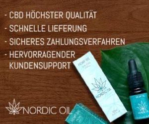 Nordicoil - der Online-Spezialist für CBD-Produkte - zum Shop Bild anklicken (* Werbung)