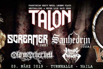 """CFN Fest 2019 in der """"Alten Turnhalle"""" am 09.03.2019 in Naila mit Sanhedrin, Talon, etc."""