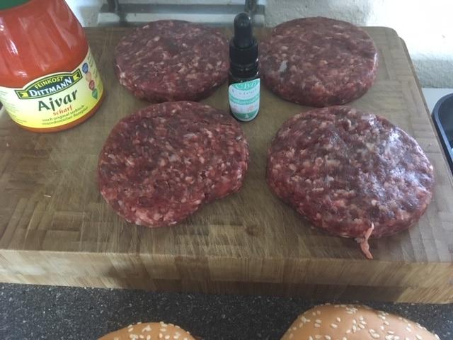 CBD Burger - Kochen mit CBD