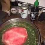 Geräucherte Wassermelone