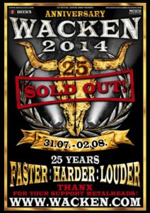 25 Years Louder than Hell - Wacken Open Air  W:O:A 2014