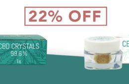 NordicOil: Probieren Sie die NEUEN CBD & CBG Kristalle - 22% Einführungsrabatt!