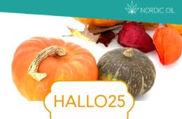 Halloween bei Nordicoil: 25% Rabatt auf alle CBD Produkte (CBD Öl, CBD-Kristalle, ..)