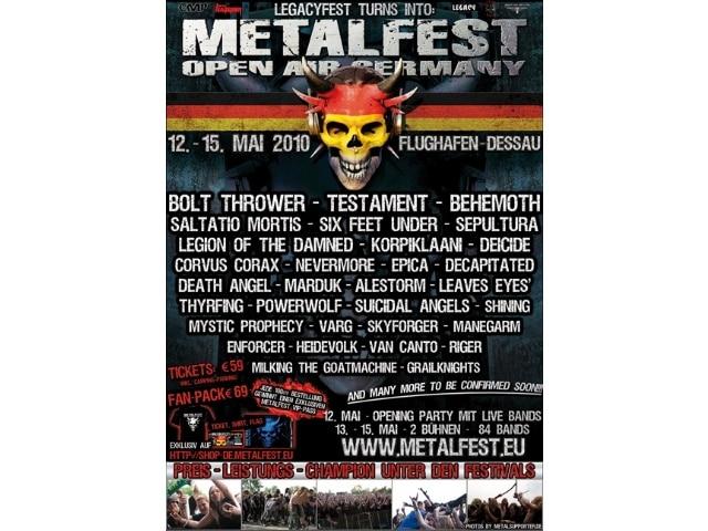 Metalfest Deutschland 2010 auf dem alten Flugplatz in Dessau