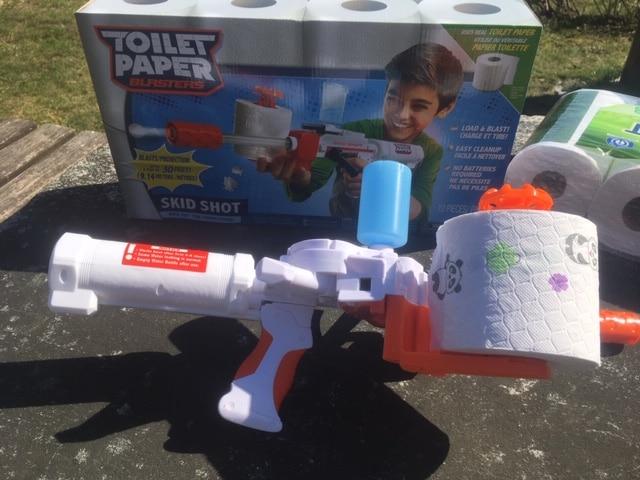 "Toilet Paper Blaster ""Sheet Storm"" Toilettenpapier Kanone"