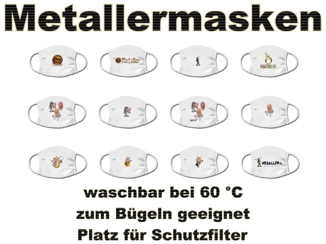 Gesichtsmasken für Metaller: Alltagsmasken zum Schutz vor Coronavirus