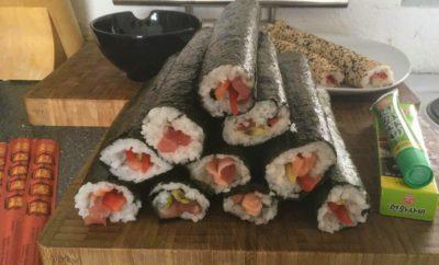 Sushi mit ihren unterschiedlichen Variationen