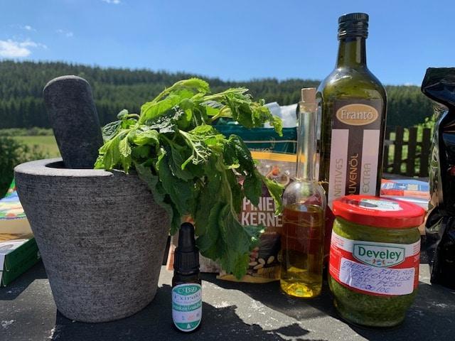 Bärlauch-Giersch-Zitronenmelissen-Pesto mit CBD Öl