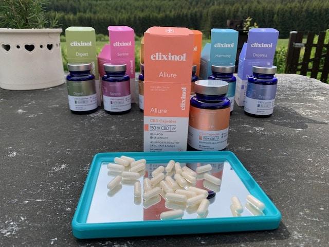 Allure Elixinol CBD-Kapseln für Haut und Haar