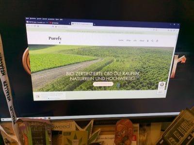 CBD Online Shop von Purefy
