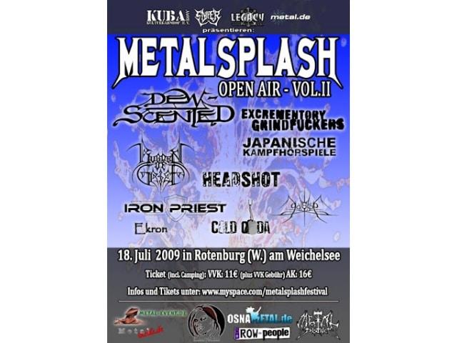 Metalsplash Open Air 2009 - Stagediving und Kunstblut