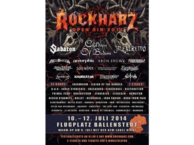 RockHarz Festival 2014 in Osterode am Harz - beste Festivalbedingungen