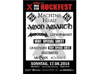 X Rockfest 2014 - alle Bands hochkarätige Kracher des Schwermetalls