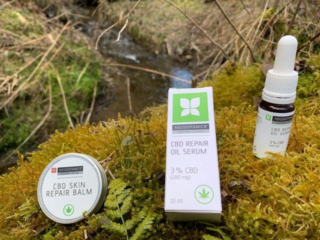 CBD Repair Oil Serum und Skin Repair Balm
