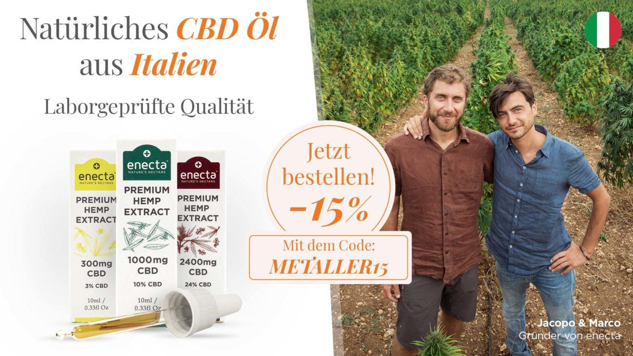 15% Rabatt auf die erste Bestellung mit Code: METALLER15 – 10% Rabatt auf Folgebestellungen mit dem Code: MET_10OFF auf enecta.de