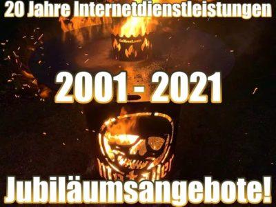Sonderangebote auf Metaller.de - 20 Jahre Internetdienstleistungen (2001-2021)