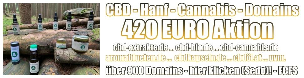 CBD Hanf Cannabis Domains zu verkaufen