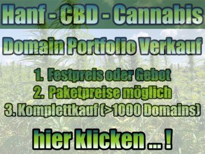 CBD-, Hanf- und Cannabis-Domain Portfolio Verkauf