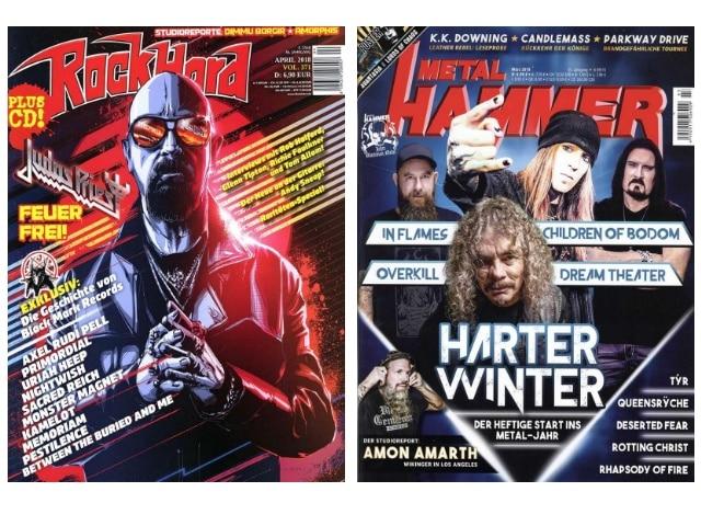 Die Heavy Metal Magazine ROCK HARD und METAL HAMMER im Abo