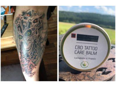 Frische Tattoos (Tätowierungen) mit CBD Creme Balsam behandeln